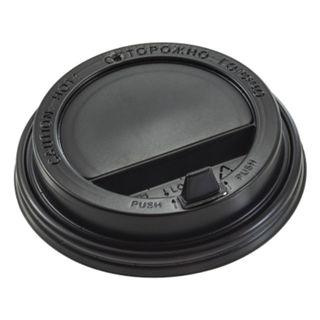 FORMATION / Disposable lids for beaker 300 ml (d-90), KIT 100 pcs., Spout valve, black