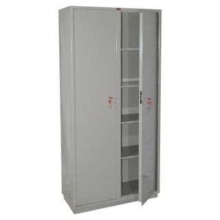 Cabinet metal for documents KBS-10, (1850 x880 x390 mm; 90 kg), 2 compartments, welded