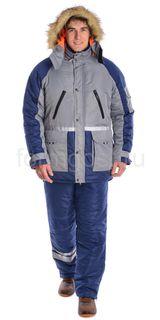 Jacket Angara insulated, grey + blue