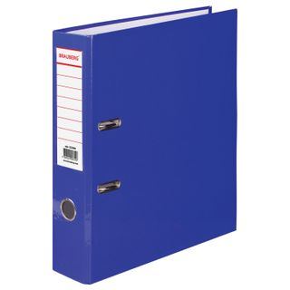 Folder-Registrar BRAUBERG, laminated, 80mm, blue