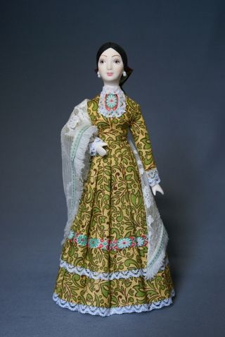 Doll gift. Women's festive costume of the Kuban Cossacks. The end of the 19th century. Kuban. Russians (Cossacks)