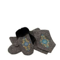 Set scarf and mittens 'Winter pattern'