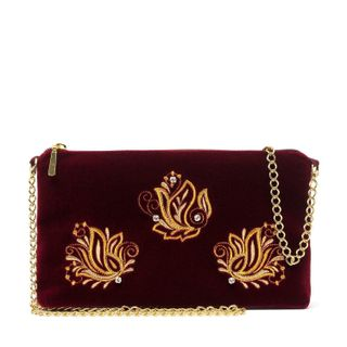 "Velvet clutch ""Spring fragrance"""