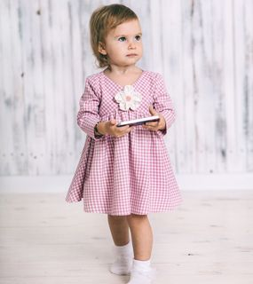 Dress with an asymmetrical yoke  Code: 1722153