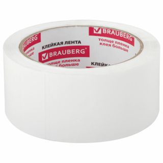 BRAUBERG / Packaging adhesive tape 48 mm x 66 m, WHITE, 45 microns thick