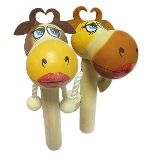 Wooden toy pop gun Cow