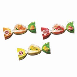 BOGATYR / Citrus mix caramel candies, lollipop, mini-mini, assorted orange / lemon / grapefruit, 1 kg