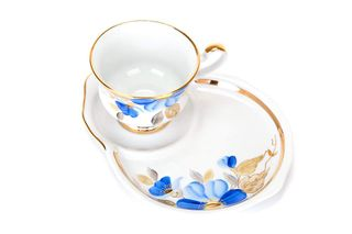 Dulevo porcelain / Gift set 2 pcs. Spring blue flower