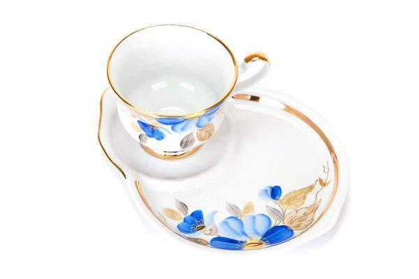 Dulevo porcelain / Gift set 2 pcs. Spring blue flower