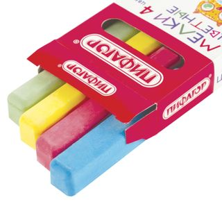 Chalk, colored PYTHAGORAS, 4 PCs set, square
