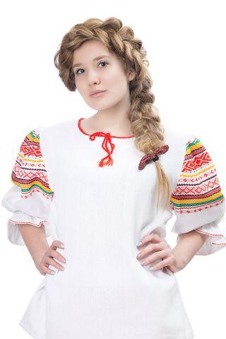 Blouse, shirt under a dress women's in Russian folk style Summer