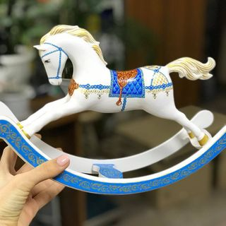 Rocking horse table with painted (white)