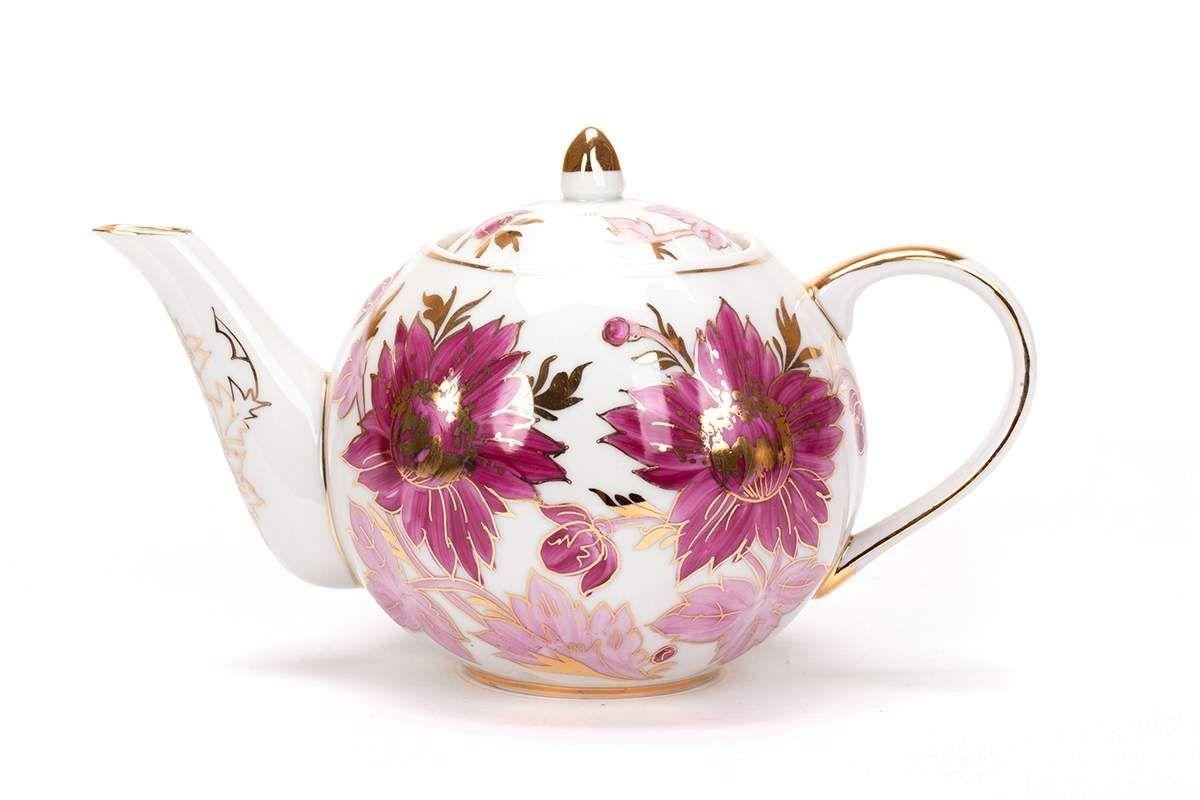 Dulevo porcelain / Teapot 750 ml Tulip Tulips