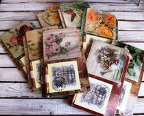 Souvenir fridge magnet with notebook Flowers mix