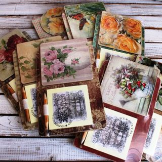 Souvenir fridge magnet with notebook Flowers mix