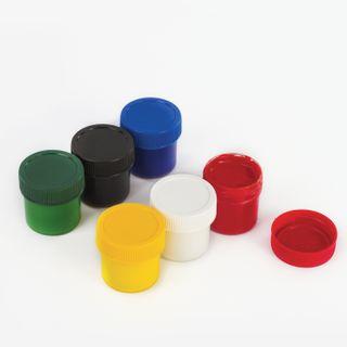 Finger paints INLANDIA SAFARI 6 colors 35 ml jars, top QUALITY