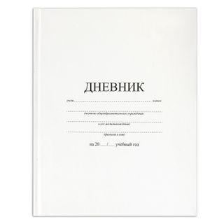 Diary 1-11 class 40 sheets, solid, BRAUBERG, matte lamination, WHITE