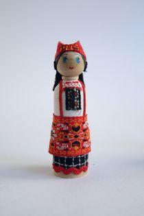 Doll gift. Women's costume of the 19th century. Ryazan. Russia