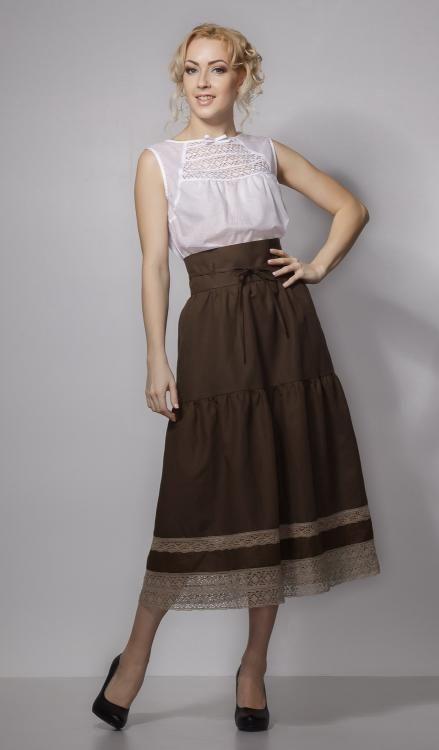 """Skirt women's """"Giselle"""" length below the knee"""
