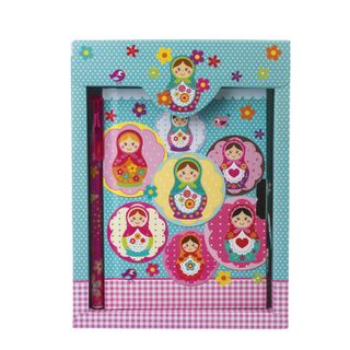 Notebook A5 (145 x190 mm), 56 sheets, hardcover, metal lock, sequins, gift wrapping, line, BRAUBERG,