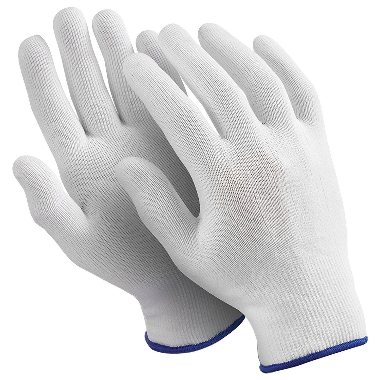 "MANIPULA / Nylon gloves ""Micron"", SET 10 pairs, size 9 L, white"