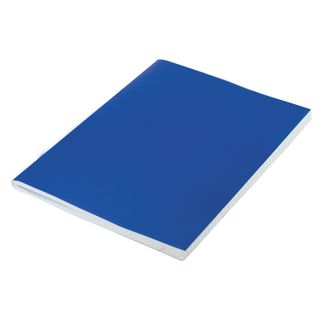 The notebook is boomvinil, A5, 96 sheets, staple, offset No.1, cage, with fields, STAFF, BLUE