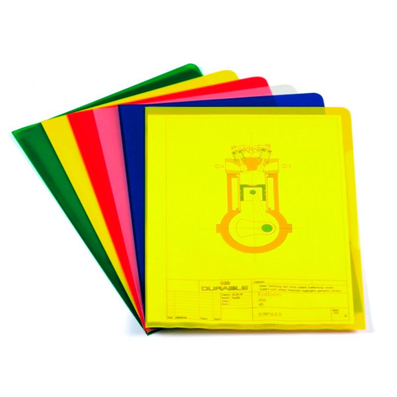 Durable / Folder-corner for documents. 120 microns, A4, polypropylene Yellow