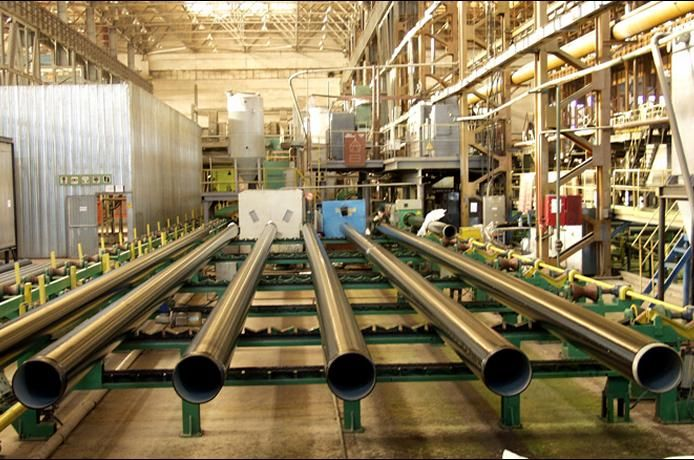 Steel pipes with internal and external anticorrosion coating
