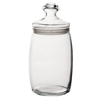 PASABAHCE / Jars with lids for bulk products Cesni, volume 1100 ml, glass, SET 2 pcs.