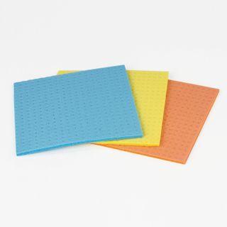 LYUBASHA / Cellulose napkins (spongy), 15x15 cm, high absorbency, SET 3 pcs.