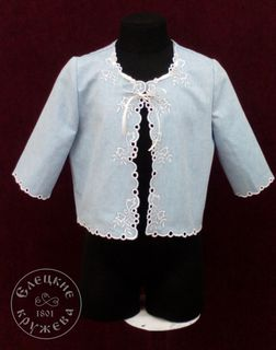 The linen jacket of baby blue