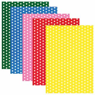 Coloured paper, A4, offset, self-ADHESIVE, 5 sheets in 5 colors