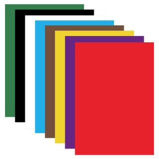 Cardboard A4 colored uncoated (matte), 8 sheets in 8 colors, in a folder, BRAUBERG, 200х290 mm,