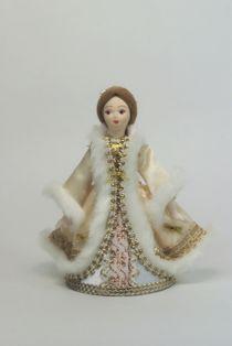 Doll gift porcelain. Girl in a smart winter suit (Gerd)