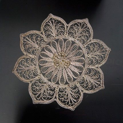 "Kazakovskaya Filigree / Plate ""Lily"" increased silvering"