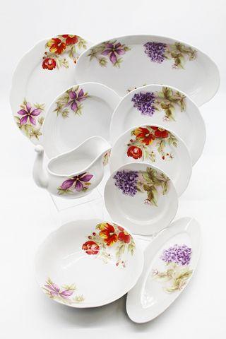 Dulevo porcelain / Table service 29 pcs Appetizing Alpine flowers (with gravy)