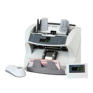 PRO 85 UM banknote counter, 1500 banknotes / min., 3 currencies, UV-, magnetic detection, packing