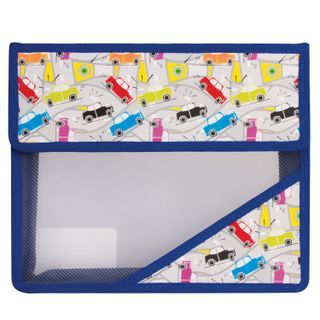 Folder for notebooks A5, plastic, Velcro, with a picture on the area, the