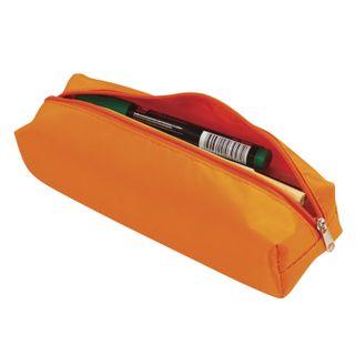 Pencil case-cosmetic bag BRAUBERG, polyester, rainbow, orange, 20х6х4 cm