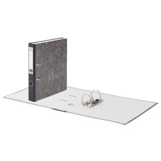 Folder-Registrar BRAUBERG, texture standard, with marble flooring, 50 mm, black spine