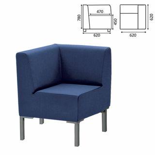Upholstered corner armchair