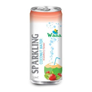 Frozen Coconut Juice With Peach Flavor in 250ml Can