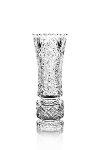 "Crystal vase for flowers ""Fantasy"" colorless"