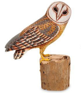 "Wooden figurine ""Owl barn owl"" 32 cm"