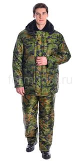 Suit Tourist with insulated bib, camouflage NATO
