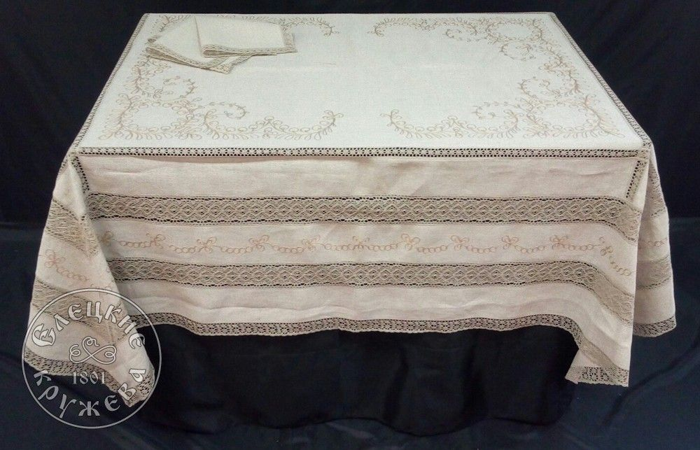 "Yelets lace / Table set ""Tablecloth and napkins"" С575"