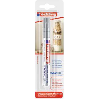 Edding / Marker varnish glossy, round nib, 2-4 mm, blister Silver