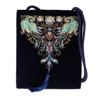 """Velvet bag handmade embroidered """"birdsong"""""""
