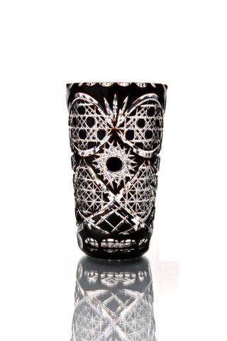 """Crystal vase for flowers """"Vasilisa"""" small black"""