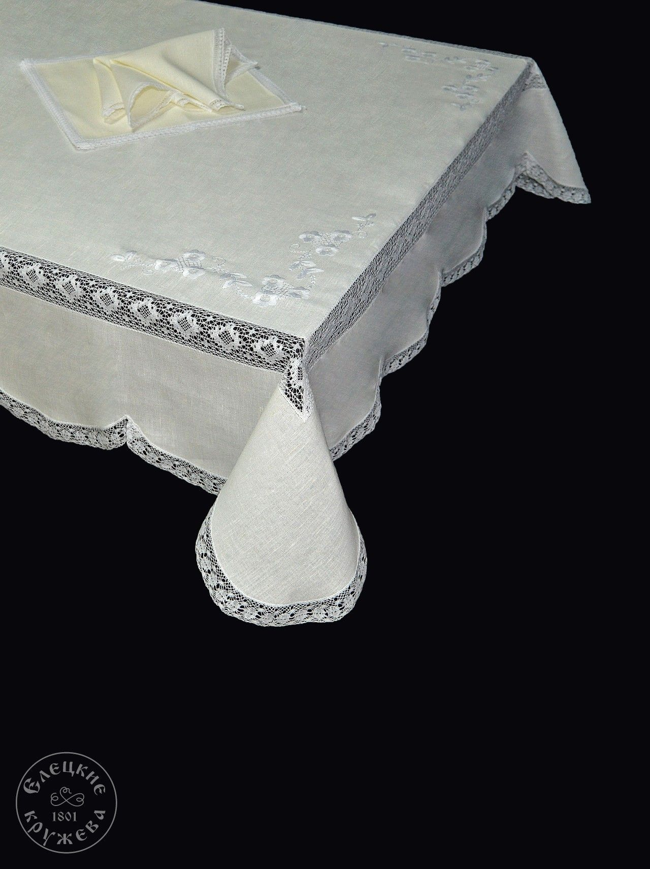 "Yelets lace / Table set ""Tablecloth and napkins"" С966"